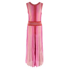 Missoni Pink & Red Metallic Midi Dress M 44