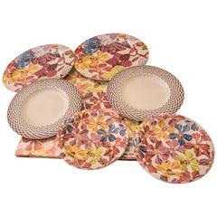 Missoni Porcelain Italian Set of Three Plates and Individual Tablecloth