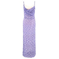 Missoni Purple Knit Sequin Gown US 8