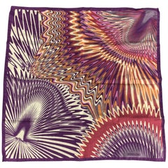 5b872e5606cf0 MISSONI Purple Pink & Orange Cotton Abstract Swirl Print Pocket Square