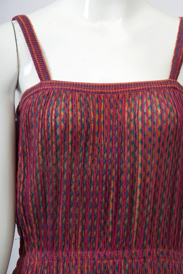 Missoni Raspberry Sundress In Good Condition For Sale In Alford, MA