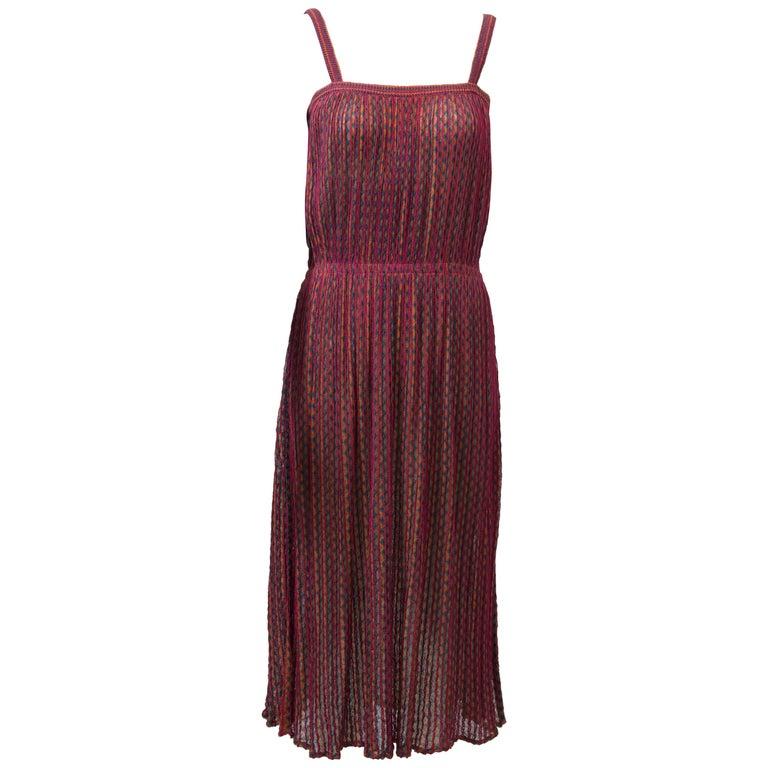 Missoni Raspberry Sundress For Sale
