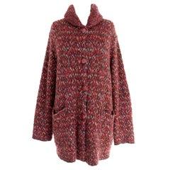 Missoni Red Brown Alpaca Wool Mohair Tweed Jacket 1990s