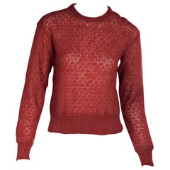 Missoni Red Mohair/Wool Sweater