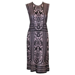 Missoni Rose & Black Sleeveless Knit Dress
