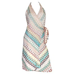 NEW Missoni Signature Chevron Zigzag Knit Wrap Dress