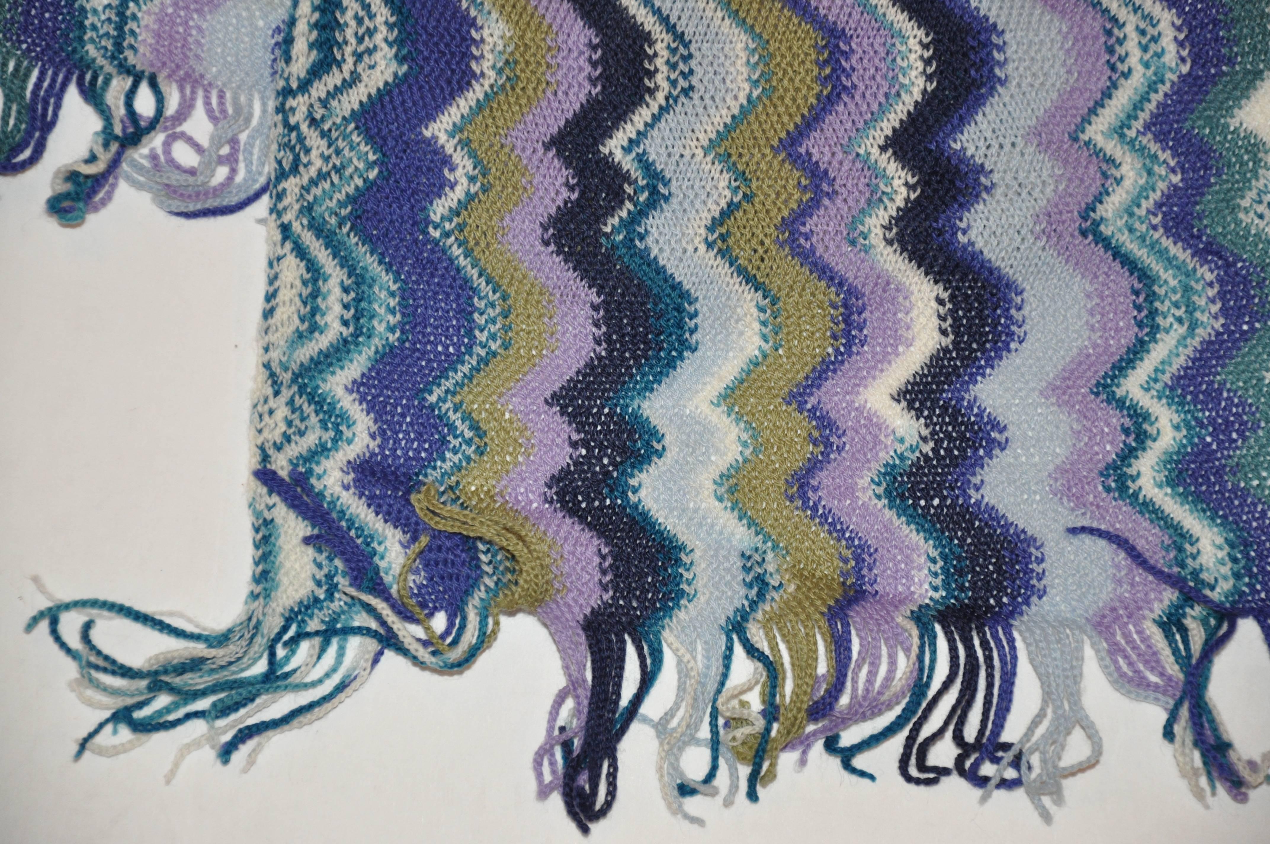 Enchanting Zig Zag Scarf Crochet Pattern Elaboration - Blanket ...