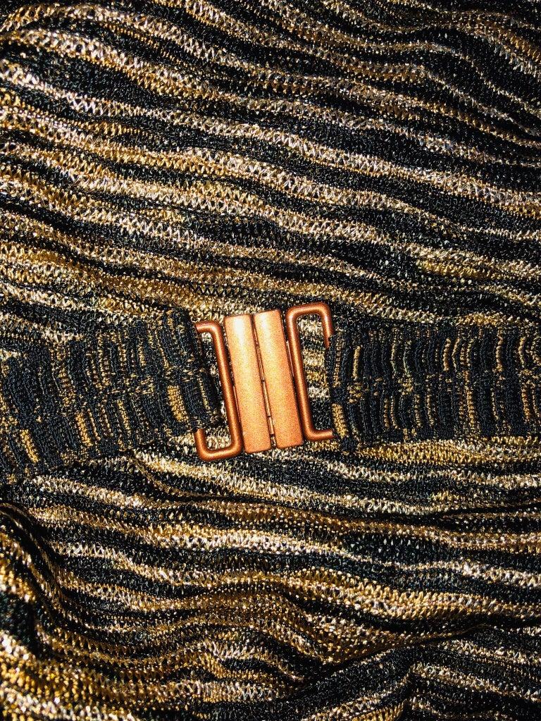 Missoni Signature Zigzag Crochet Knit Mini Dress with Belt For Sale 2