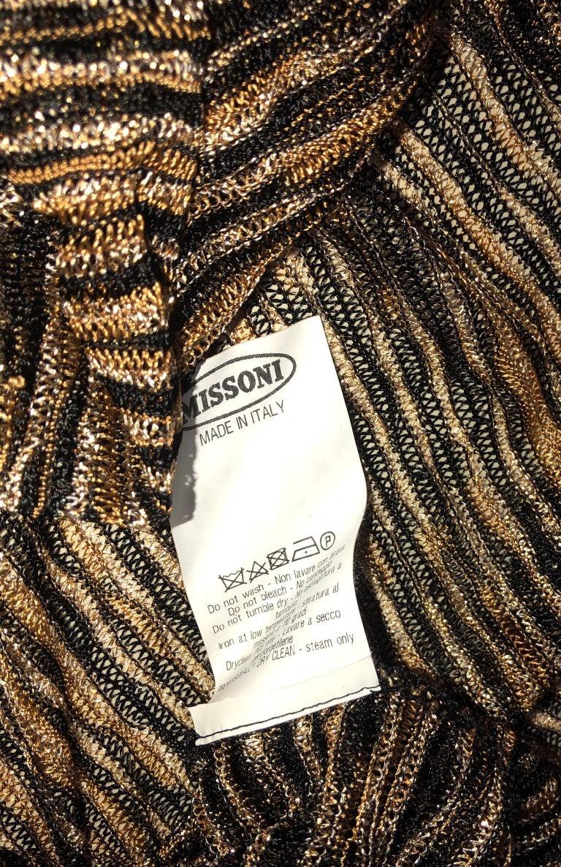 Missoni Signature Zigzag Crochet Knit Mini Dress with Belt For Sale 3