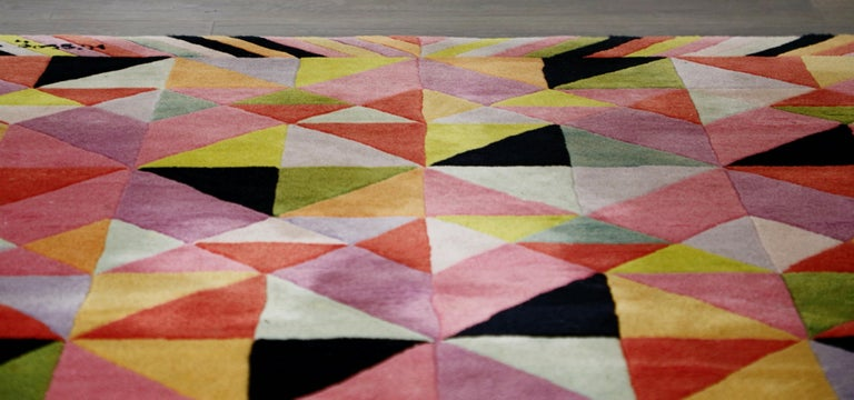 Missoni Signed Post-Modern Kaleidoscope Large Rug, circa 1980 For Sale 4