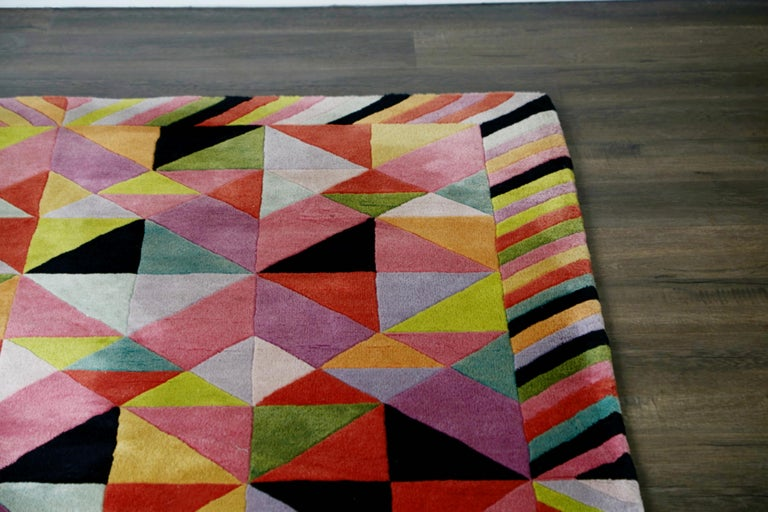 Missoni Signed Post-Modern Kaleidoscope Large Rug, circa 1980 For Sale 5