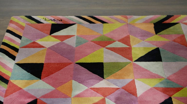 Missoni Signed Post-Modern Kaleidoscope Large Rug, circa 1980 For Sale 6
