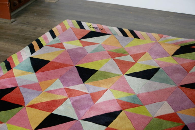 Missoni Signed Post-Modern Kaleidoscope Large Rug, circa 1980 For Sale 7