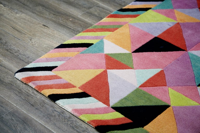Missoni Signed Post-Modern Kaleidoscope Large Rug, circa 1980 For Sale 8