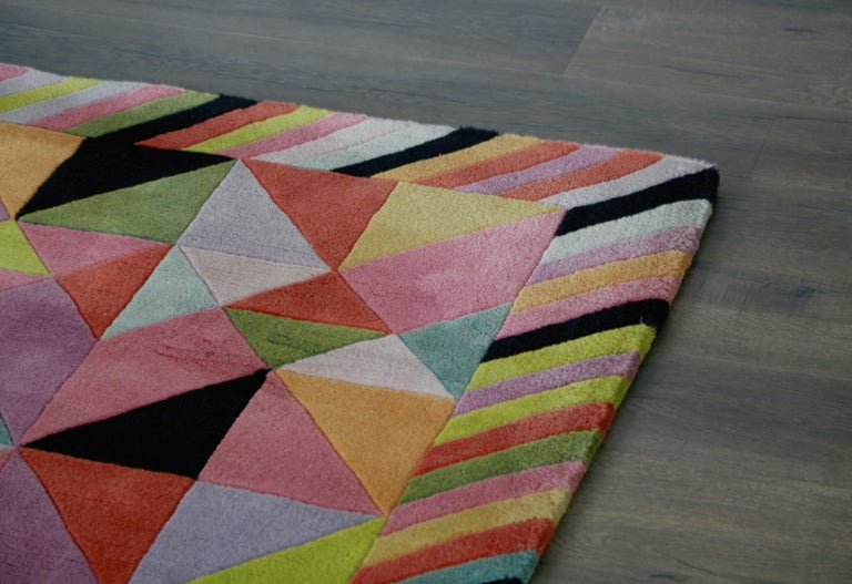 Missoni Signed Post-Modern Kaleidoscope Large Rug, circa 1980 For Sale 10