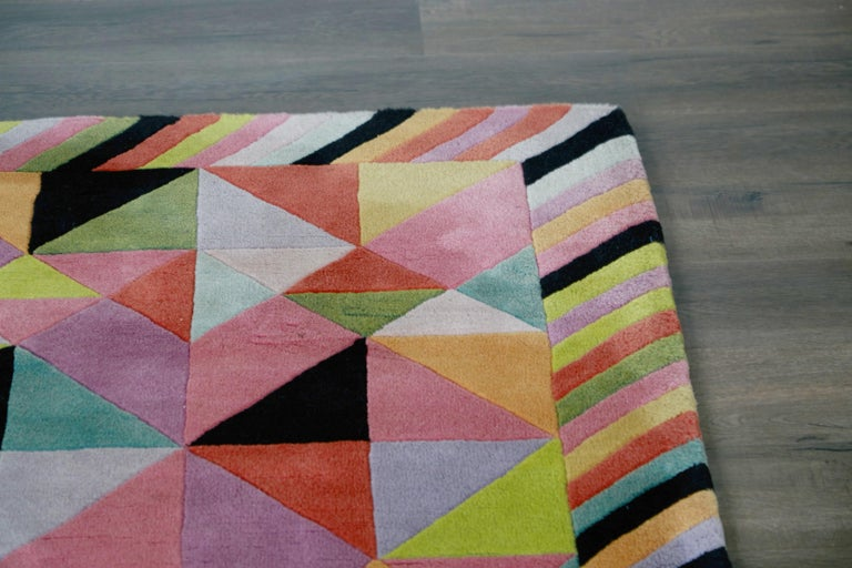 Missoni Signed Post-Modern Kaleidoscope Large Rug, circa 1980 For Sale 11