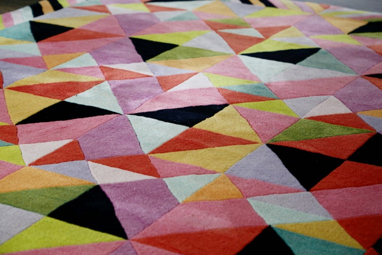 Missoni Signed Post-Modern Kaleidoscope Large Rug, circa 1980 For Sale 1