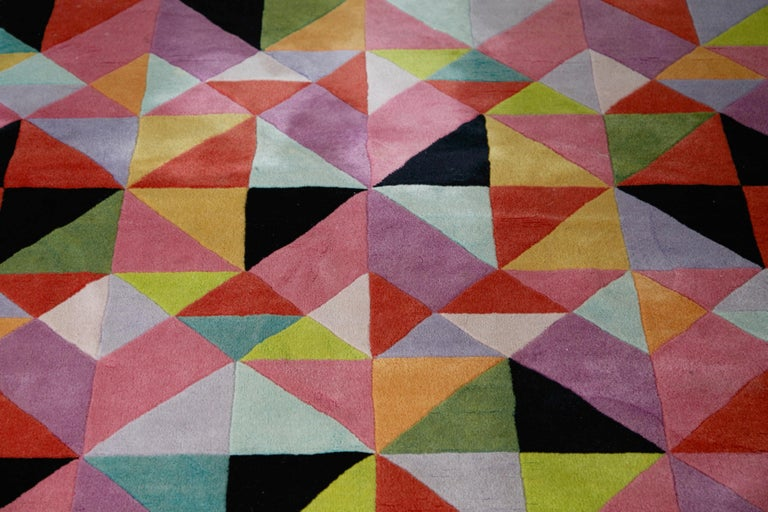 Missoni Signed Post-Modern Kaleidoscope Large Rug, circa 1980 For Sale 2
