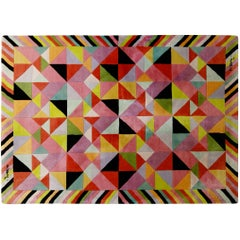 Missoni Signed Post-Modern Kaleidoscope Large Rug, circa 1980