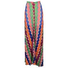 MISSONI Size 4 / IT 40 Multi-Color Geometric Maxi Skirt