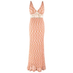 Missoni Sleeveless Knit Embellished Gown SIZE IT 40