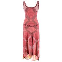 Missoni Sport Red Striped Handkerchief Dress - Size US 8
