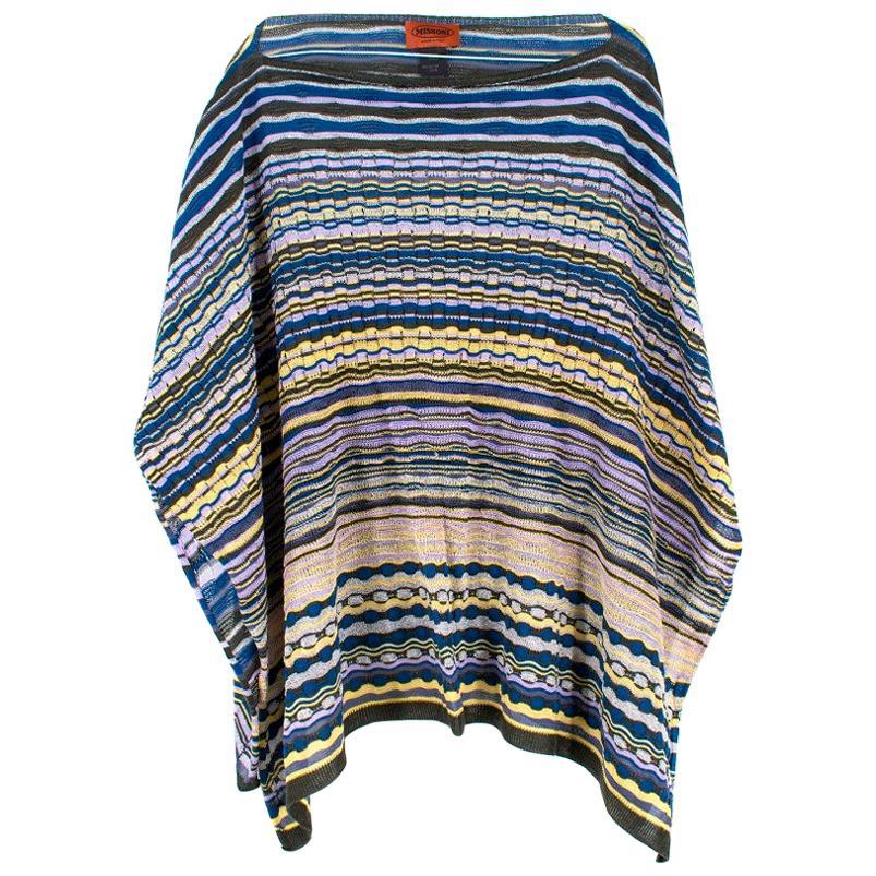 Missoni Striped Knit Poncho - One Size