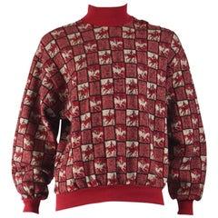 Missoni Vintage Mens Horse Pullover Sweater