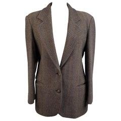 Missoni Vintage Pure Wool Fishbone Blazer Jacket Size 42