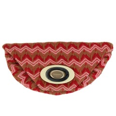 Missoni Vintage Red Fabric Handbag