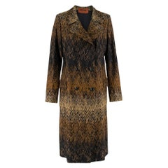 Missoni Wavy Knit Gold Long Coat 44