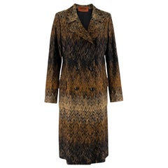 Missoni Wavy Knit Gold Long Coat 44