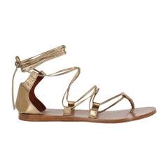 Missoni Woman Sandals Gold Leather IT 39.5