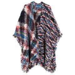 Missoni Wool Blend Multi-coloured Poncho- One Size