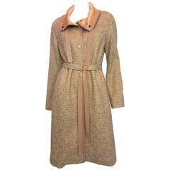 Missoni Wool Dusty Rose & Ivory Woven Jacket With Metallic Thread