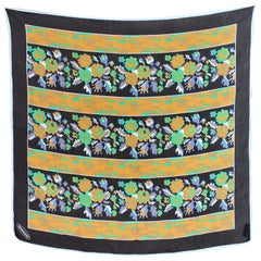 Missoni Yellow Green Silk Floral Scarf