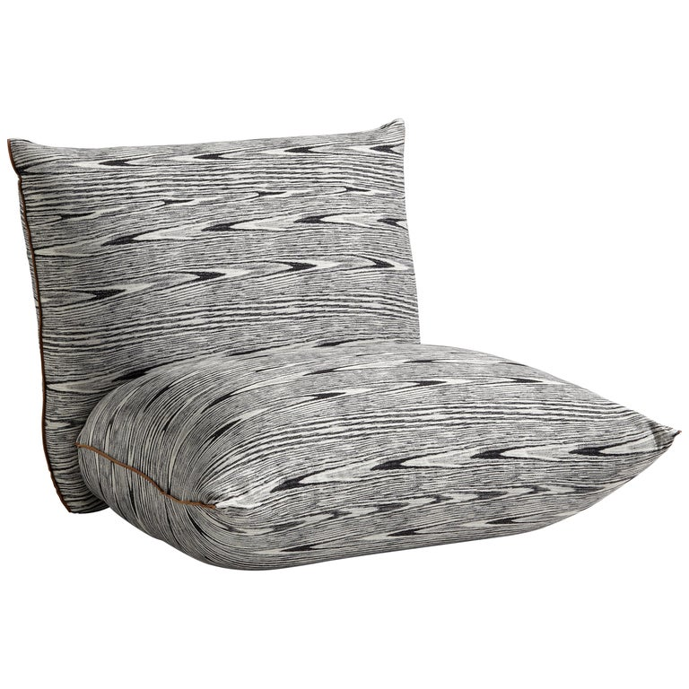 Missoni Home Cordula Easy Chair: MissoniHome Armless Lounge Chair In Black And White