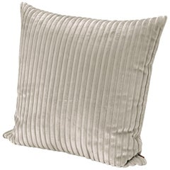 MissoniHome Coomba Cushion in Textured Ivory Stripes