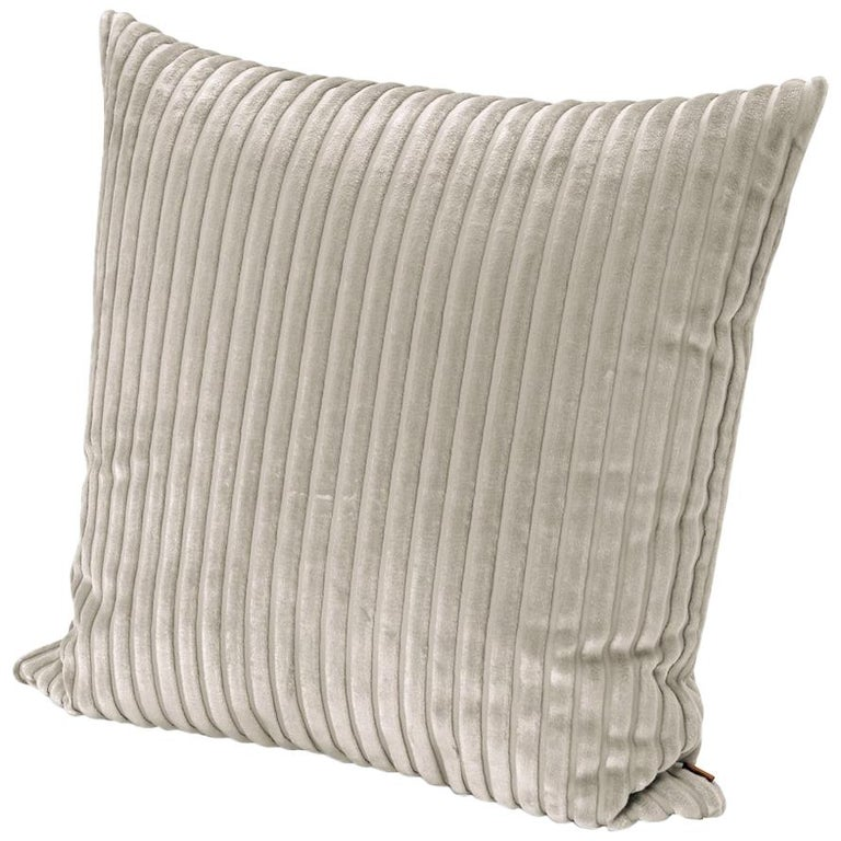 MissoniHome Coomba Cushion in Textured Ivory Stripes For Sale