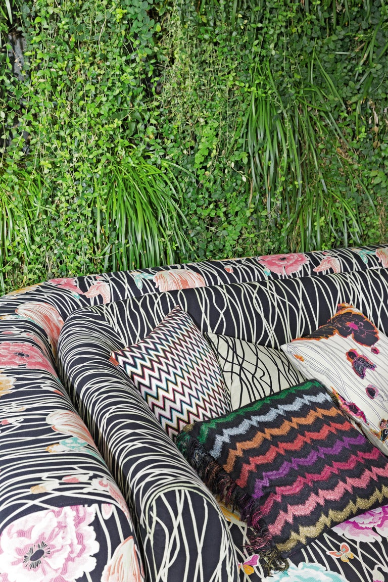 Modern MissoniHome Inntil Two-Seat Sofa in Varbania & Valmadera Floral Patterns For Sale