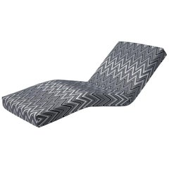 MissoniHome Jalamar Lounge Chair in Kew Black and White Chevron Pattern