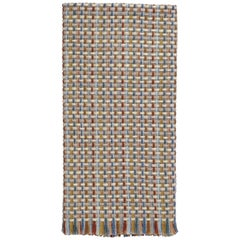 Missoni Home Jocker Throw in Multicolor & Beige Wool W/ Knit Patchwork
