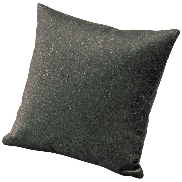 MissoniHome Mahe Cushion in Textured Silver Fabric For Sale