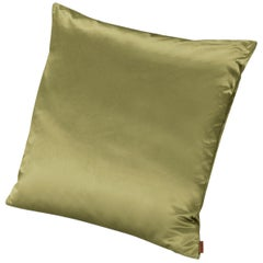 Missoni Home Mono Cushion in Lime Green Cotton and Silk