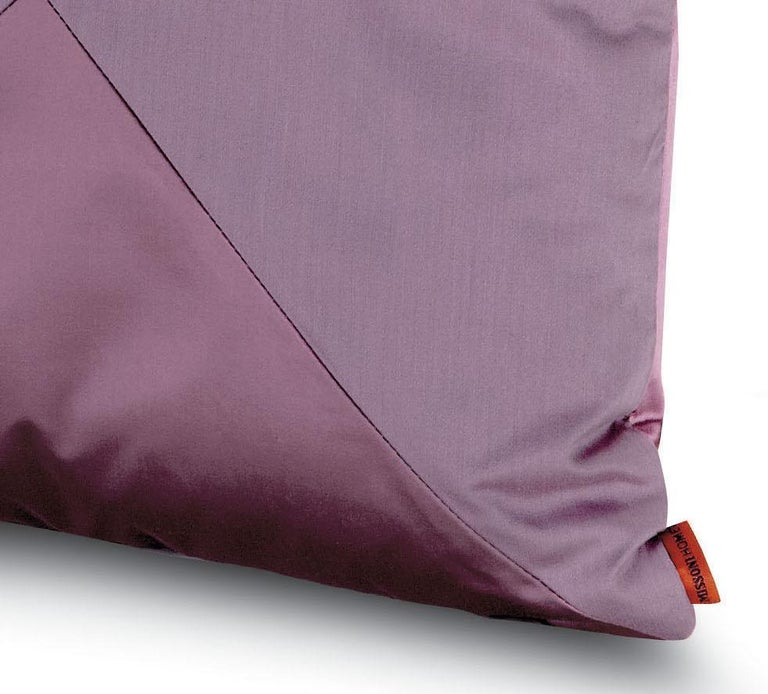 Decorative cushion in solid color cotton and silk. Perfect for adding an elegant touch to any bedroom or living room.  Composition: 67% Cotton, 33% Silk. Care: delicate dry-clean with perchlorethylene.