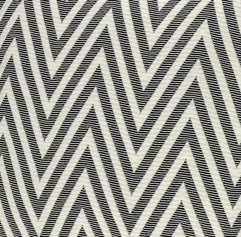 Modern MissoniHome Nossen Cushion with Chevron Print in Black & White For Sale