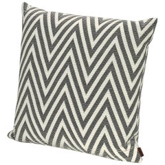 MissoniHome Nossen Cushion with Chevron Print in Black & White