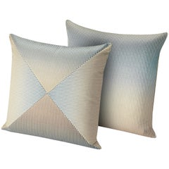 Missoni Home Oleg PW Cushion Set with Blue and Gold Gradient