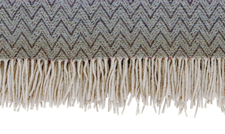 Modern MissoniHome Pascal Throw in Multicolor Chevron Pattern For Sale