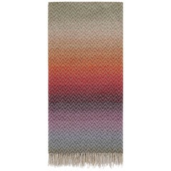 MissoniHome Pascal Throw in Multicolor Chevron Pattern